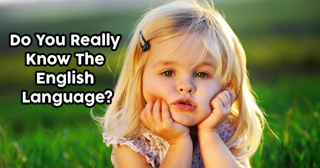 Do You Really Know The English Language?