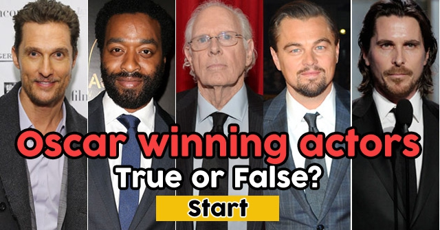 Oscar winning actors… or not?