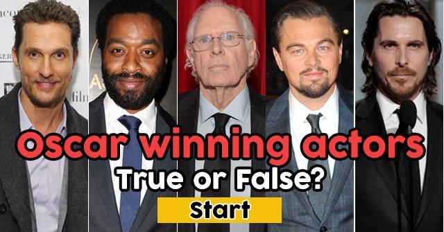 Oscar winning actors… or not?