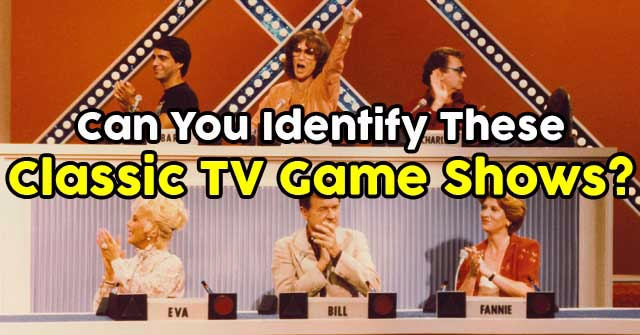 Can You Identify These Classic TV Game Shows?