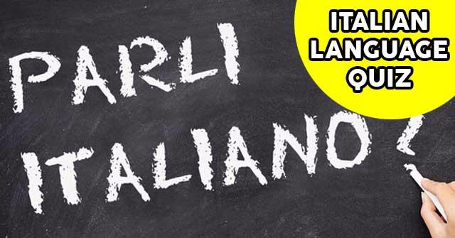 Can You Pass This Basic Italian Language Quiz?