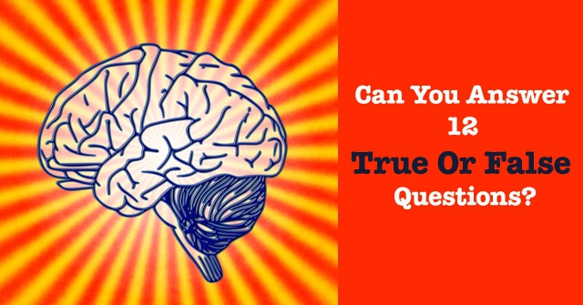 Can You Answer 12 True Or False Questions?