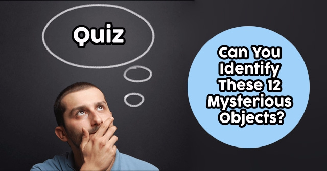 Can You Identify These 12 Mysterious Objects?
