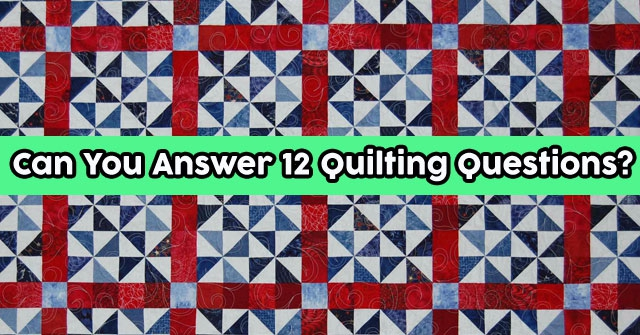 Can You Answer 12 Quilting Questions?