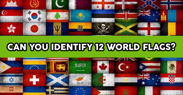Can You Identify 12 World Flags?
