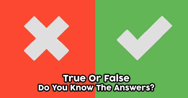 True Or False – Do You Know The Answers?