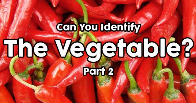 Can You Identify The Vegetable? Part 2