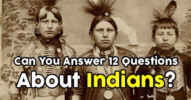 Can You Answer 12 Questions About Indians?