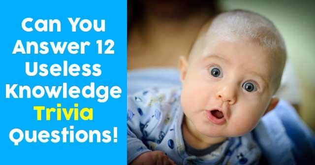 Can You Answer 12 Useless Knowledge Trivia Questions!