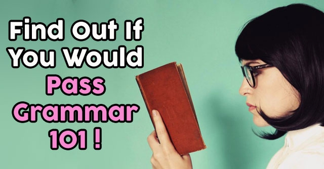 Find Out If You Would Pass Grammar 101!