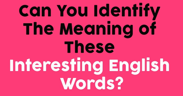 Can You Identify The Meaning of These Interesting English Words?