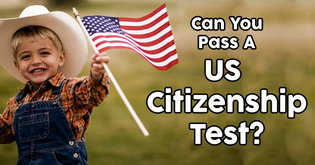 Can You Pass A US Citizenship Test?