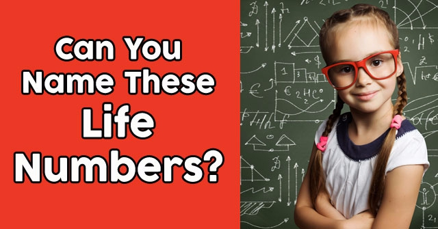 Can You Name These Life Numbers?