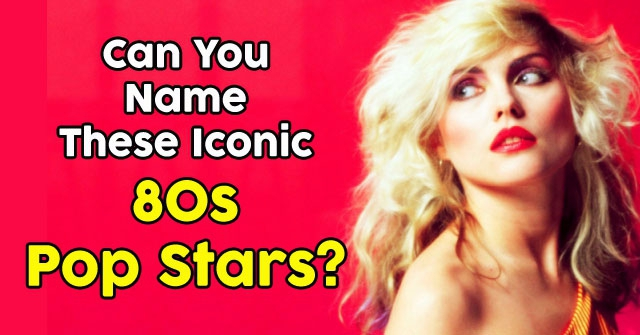 Can You Name These Iconic 80s Pop Stars?