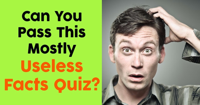 Can You Pass This Mostly Useless Facts Quiz?