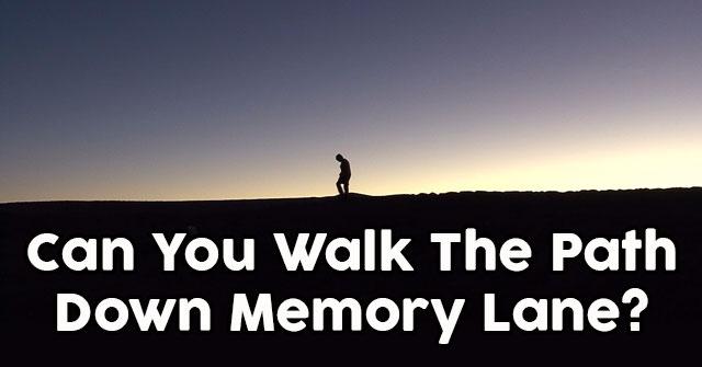 Can You Walk The Path Down Memory Lane?