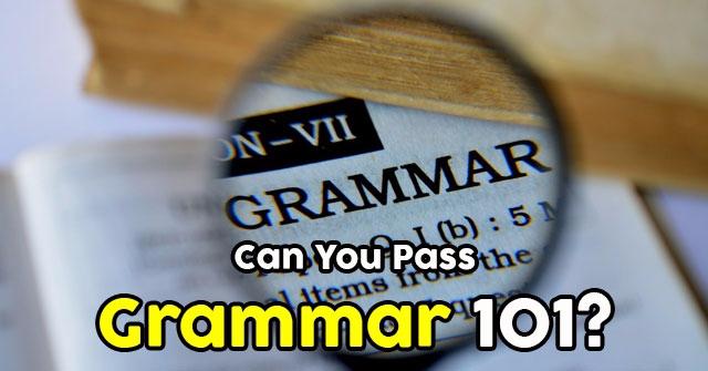 Can You Pass Grammar 101?