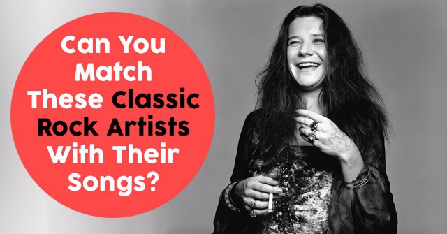 Can You Match These Classic Rock Artists With Their Songs?
