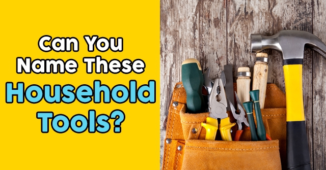 Can You Name These Household Tools?