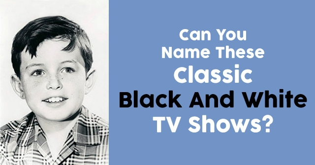Can You Name These Classic Black And White TV Shows?