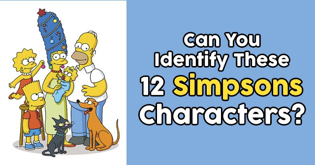 Can You Identify These 12 Simpsons Characters?