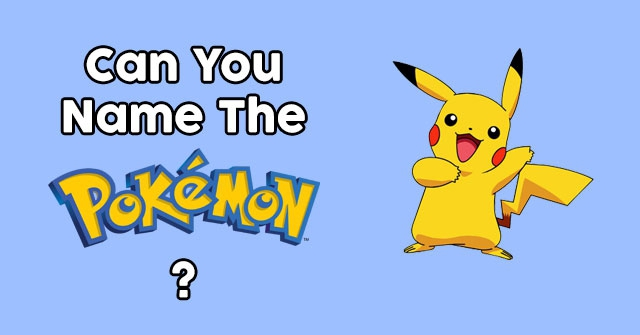 Can You Name The Pokemon?