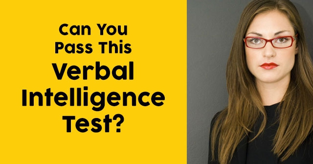 Can You Pass This Verbal Intelligence Test?