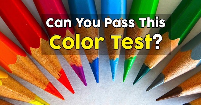 Can You Pass This Color Test?