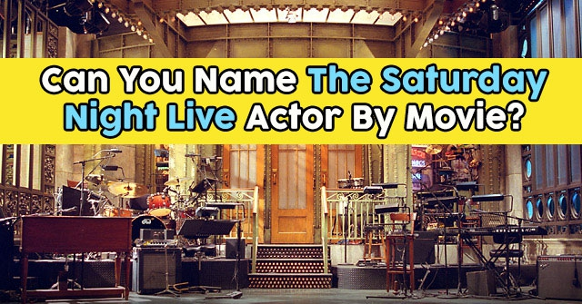 Can You Name The Saturday Night Live Actor By Movie?