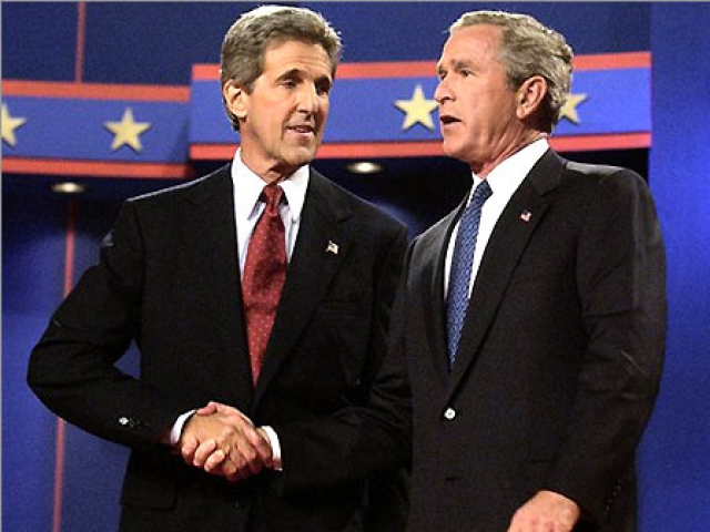 a study of the 2004 presidential election and debates