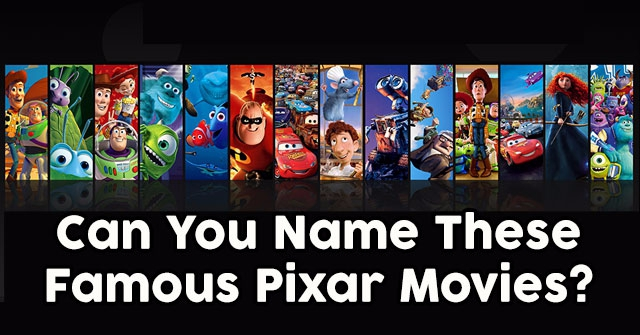 can you name these famous pixar movies