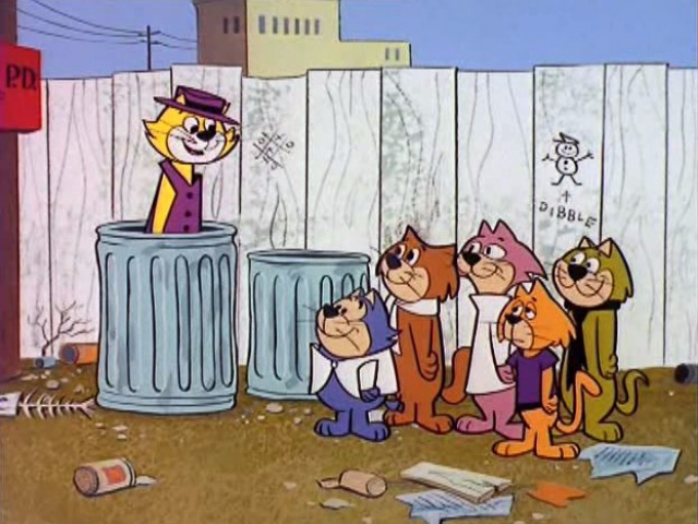Who is the character in the trash can?