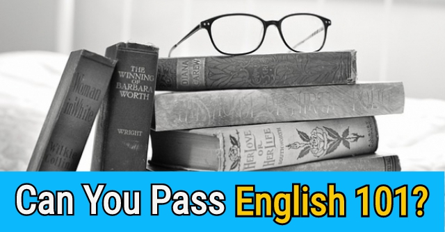 Can You Pass English 101?