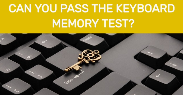Can You Pass Keyboard Memory Test?
