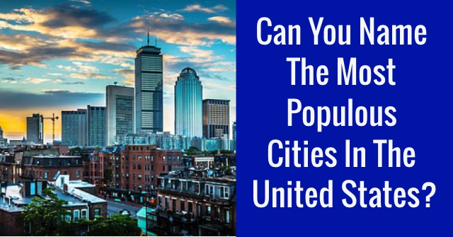 Can You Name The Most Populous Cities In The United States?