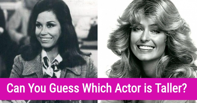 Can You Guess Which Actor is Taller?