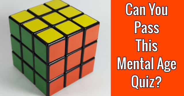 Can You Pass This Mental Age Quiz?