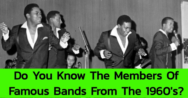 Do You Know The Members Of Famous Bands From The 1960's?