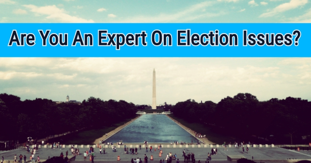 Are You An Expert On Election Issues?