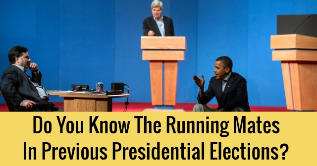 Do You Know The Running Mates In Previous Presidential Elections?