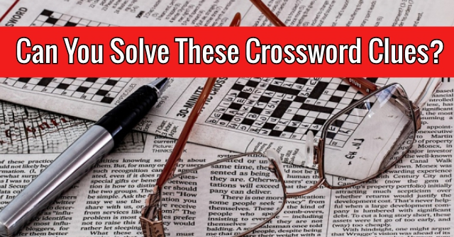 Can You Solve These Crossword Clues?