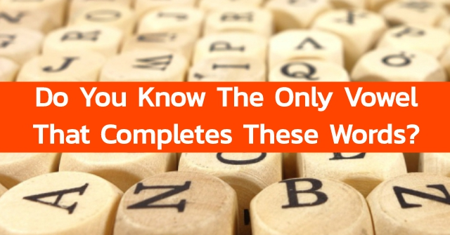 Do You Know The Only Vowel That Completes These Words?