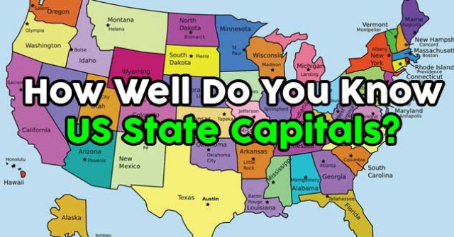 How Well Do You Know US State Capitals QuizPug - Map of us state capitals
