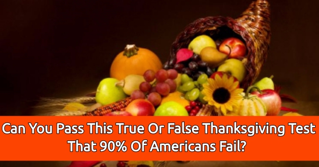 Can You Pass This True Or False Thanksgiving Test That 90% Of Americans Fail?