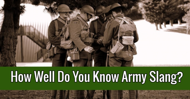 How Well Do You Know Army Slang?