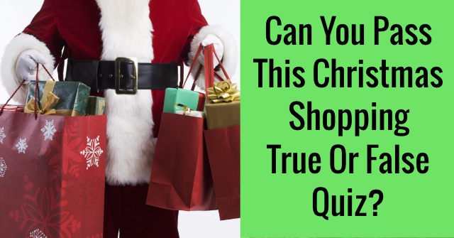 Can You Pass This Christmas Shopping True Or False Quiz?