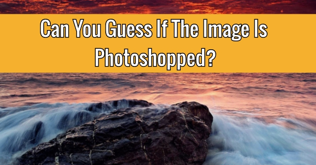 Can You Guess If The Image Is Photoshopped?