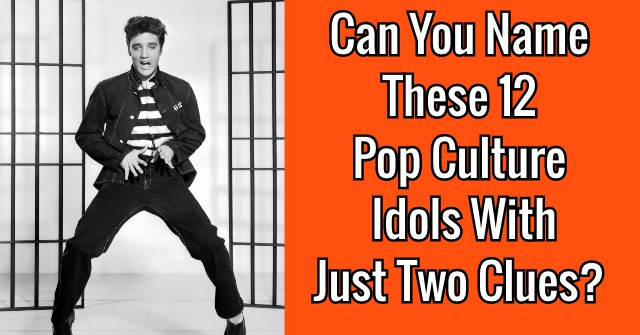 Can You Name These 12 Pop Culture Idols With Just Two Clues?