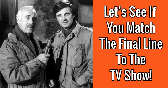 Let's See If You Match The Final Line To The Beloved TV Show!