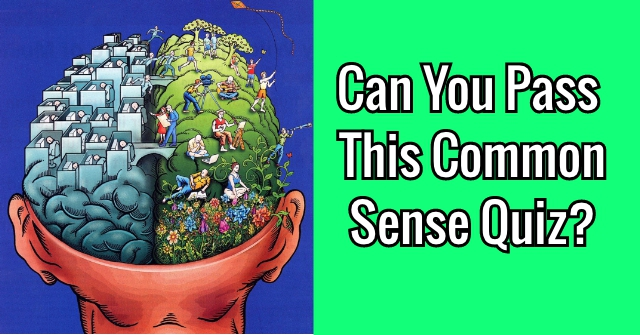 Can You Pass This Common Sense Quiz?